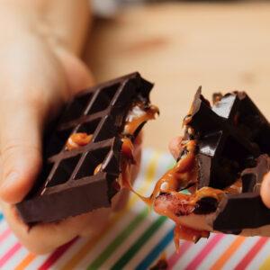 Tavoletta di cioccolato al caramello